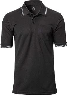 CHAMPRO Umpire Polo Shirt; Adult Black