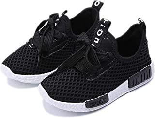Daclay Kids Shoes Girls Running Sneakers Boys Sports Letter Casual Light Mesh Comfortable