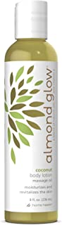 Home Health Almond Glow Coconut Body Lotion - 8 fl oz - Skin Moisturizer & Massage Oil, Peanut, Olive & Lanolin Oils Plus ...