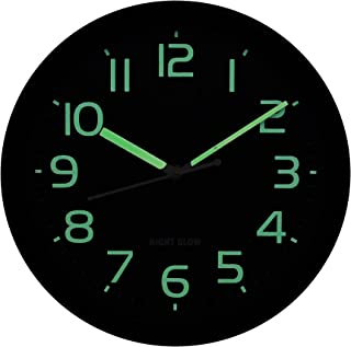 Crafting Arts Night Glow Sweep Wall Clock for Home/Living Room ( Sweep/Silent Technology )