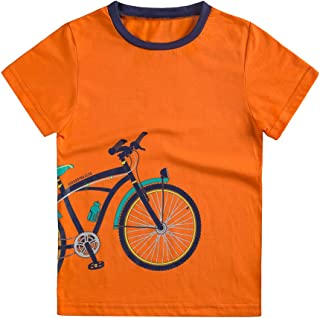 Boys T-Shirts Tee Shirts School Short Sleeve Crew Neck Cotton Kids Tops Clothes