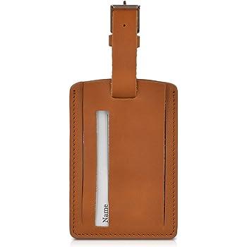 noir Premium cuir véritable valise bagages nom adresse id tag