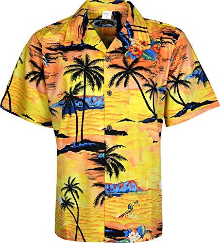 Homme hawaïen Chemise Manches Courtes complète Avant Bouton de Fermeture - - XXXXX-Large