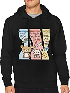 BilliePhillips Man's Rilakkuma Classic Drawstring No Pocket Sweatshirts