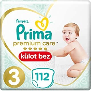 Prima Premium Care Külot Bebek Bezi, 3 Beden, 112 Adet, Midi Süper Fırsat Paketi