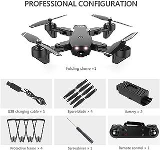 LouiseEvel215 RC Drone Plegable 720P Flujo óptico WiFi Cámara Dual ...