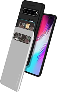Goospery Galaxy S10 5G Case [Sliding Card Holder] Protective Dual Layer Bumper [TPU+PC] Cover with Card Slot Wallet for Sa...