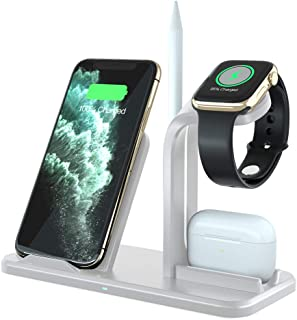 ADDANY Wireless Charger 3 in 1 Wireless Charging Station Fast Charger Docking Station for Samsung Galaxy S20/S10; iPhone 1...
