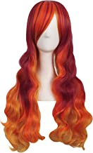 MapofBeauty 28 Inch/70cm Beautiful Long Wavy Harajuku Style Cosplay Wig (Fluorescent Orange/Blood Red/Orange Yellow)