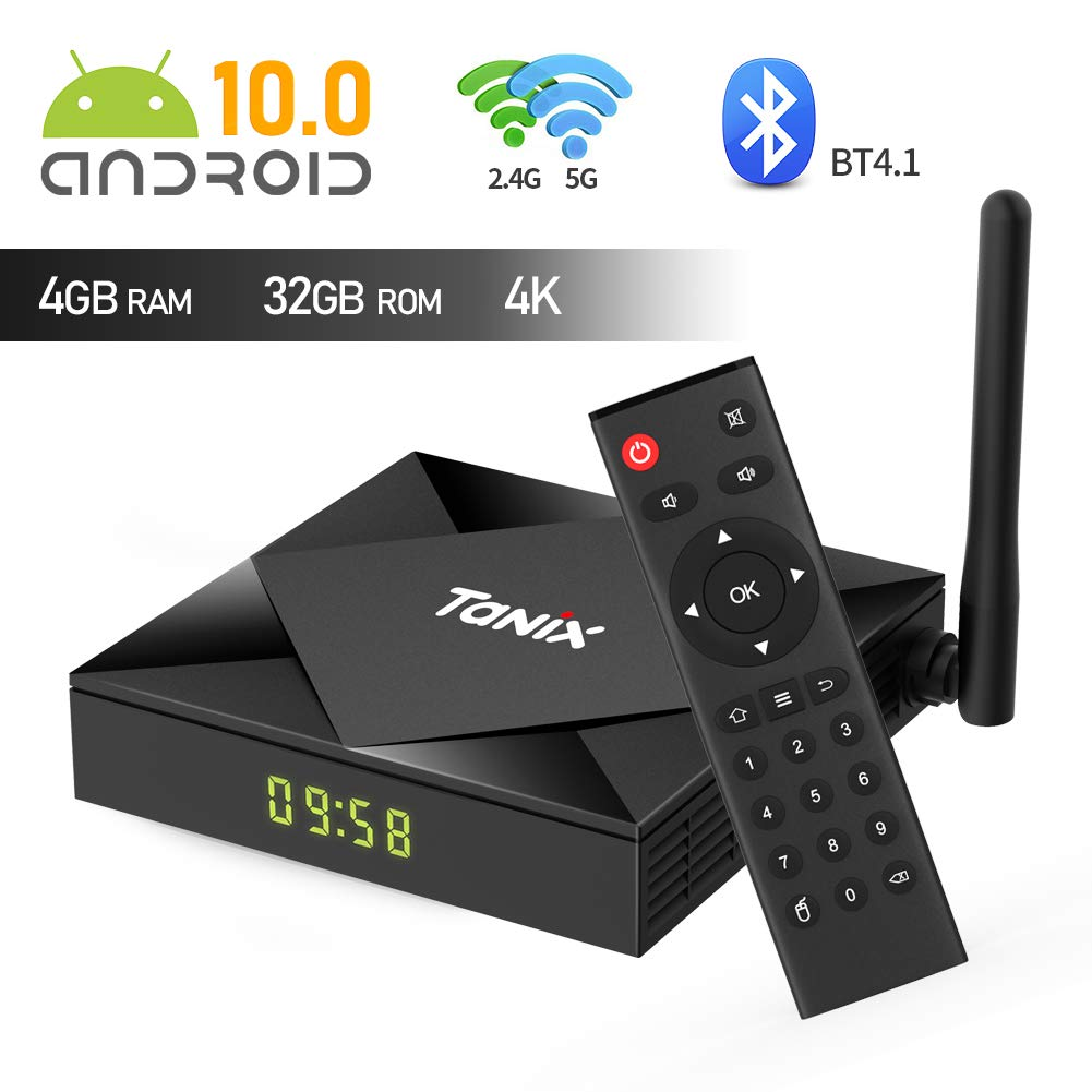 Android TV Box TX6S Android 10.0 TV Box 4 GB RAM / 32 GB ROM H616 Quad-Core Soporte 2.4Ghz/5Ghz WiFi 4K HDMI DLNA Smart TV Box: Amazon.es: Electrónica