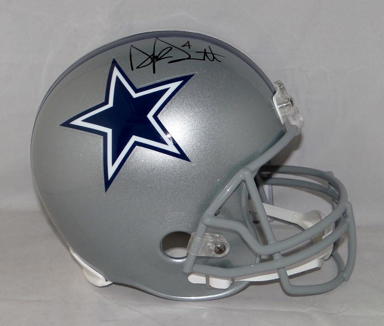 Dak Prescott Signed Helmet  Full Size Beckett Auth Black  Beckett Authentication  Autographed NFL Helmets