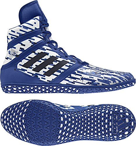 adidas Impact Men's Wrestling Shoes, Royal Digital Print, Size 4.5