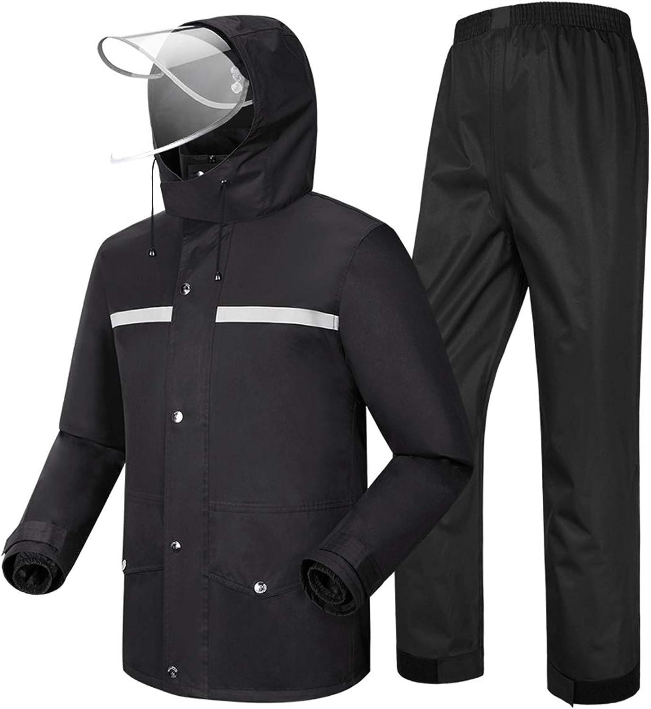 G&Monday Men's Rain Suit Waterproof Raincoat Outdoor Anti-Storm Rain Jacket Hooded rain wear Lightweight Breathable