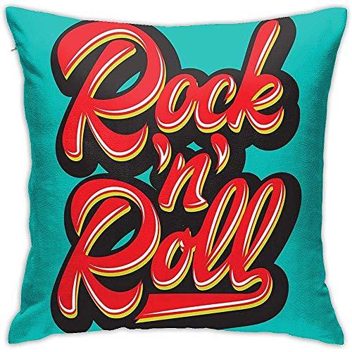 Babydo Couch Cushions Funda De Almohada Decorativa Rock and Roll Funda