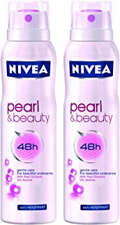 Nivea for Women Pearl Beauty Deodorant (150ml) (pack of 2)