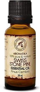 Aceite Esencial de Pino Suizo 20ml - Pinus Cembra - Suiza - 100% Natural & Puro - Mejor para Belleza - Salud - Cabello - C...