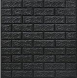 Papel De Pared De Ladrillo Tridimensional 3d Pegatina De La Pared De La Espuma De Pe De 3 Mm Auto-adhesivo Anti-colisión Adecuado Para Sala De Estar, Dormitorio, Oficina En Casa (Color:Gris negro)