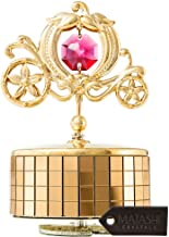 """Matashi 24k Gold Plated Princess Carriage Music Box """"You are My Sunshine"""" 