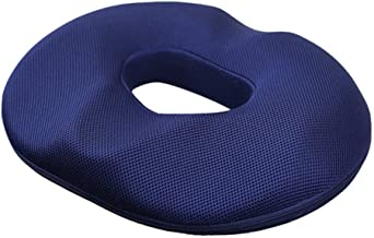 Seat Cushion, Memory Foam Blue Doughnut Cushion for Tailbone and Coccyx Pain, Lower Back Pain, Pressure Relief, for Home, ...