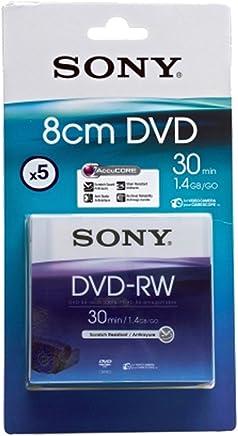 Sony DVD-RW 1.4GB 8CM DMW30 - Confezione da 5 - Confronta prezzi