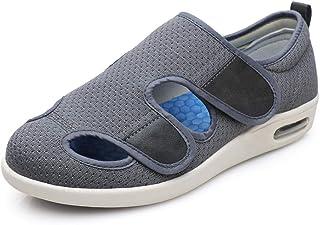 Slippers Extra brede, gezellige antislip,Mesten verstelbare sandalen, losse duim valgus shoes-39_gray,Orthopedische brede ...