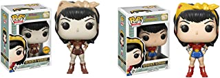 Funko POP! Heroes DC Comics Bombshells: Wonder Woman LIMITED EDITION CHASE and Wonder Woman NON CHASE Toy Action Figure - 2 POP BUNDLE
