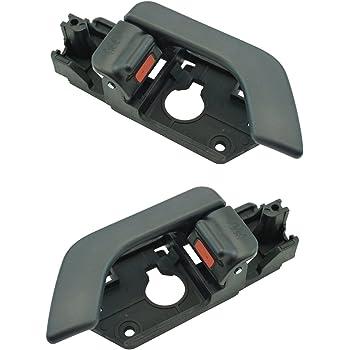 Amazon Com Interior Black Door Handle Lh Rh Kit Pair For 03 08 Hyundai Tiburon Brand Automotive
