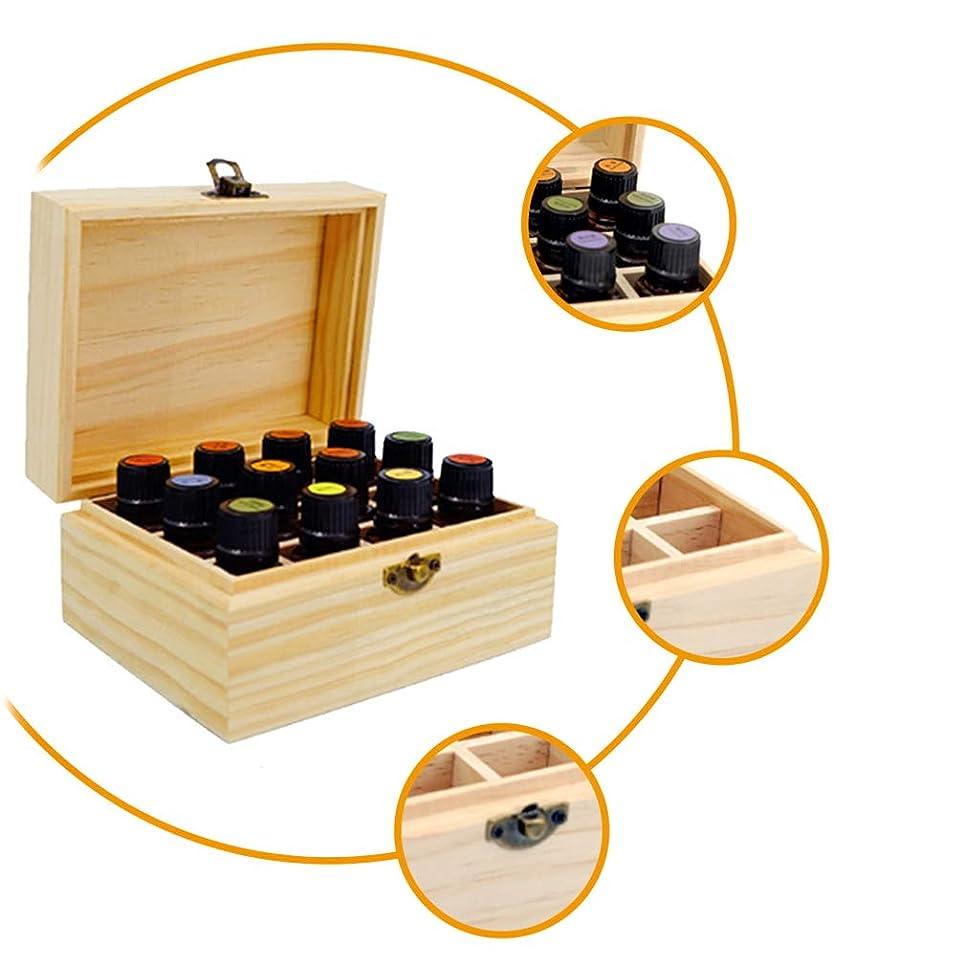 平らなクロール断線JIOLK エッセンシャルオイル 収納ボックス 12本用 木製 香水収納ケース 大容量 精油収納 携帯便利 オイルボックス おしゃれ 精油ケース