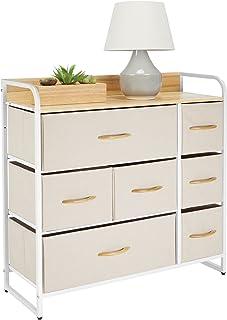 mDesign commode à 7 tiroirs – grande étagère à tiroirs pour la chambre, le salon, l'entrée, la salle de bain, etc. – range...
