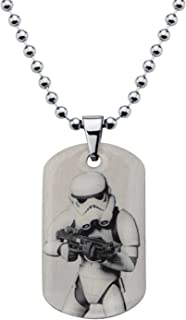"""Star Wars Jewelry Boys' Rebel Stormtrooper Dog Tag Chain Pendant Necklace, 16"""""""
