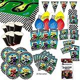 Go Kart Formel Eins Party Set XL 79-teilig für 8 Gäste Kindergeburtstag Deko Partypaket