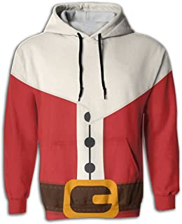 Christmas Santa Claus Costume Causal 3D Printed Pullover Hoodie Sweatshirt With Pockets