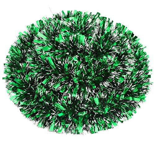 eBoot Guirnalda de Oropel de Navidad de 32,8 Pies Guirnalda Brillante Gruesa Decoración Colgante de Árbol de Navidad para Decoración de Navidad de Interior y Exterior (Verde)