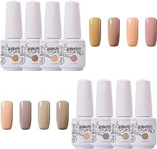 Clou Beaute Gel Nail Polish - 8ml 8Pcs Soak Off UV Led Lacquer Quick Dry Art Kit Manicure Salon Popular Various Colour Set CB-S14