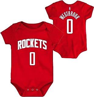 سالوبيت للأطفال حديثي الولادة مطبوع عليه اسم اللاعب ورقم اللاعب باللون من OuterStuff NBA