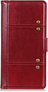CASE BOX Flip wallet with card slot phone case for Vodafone Smart N10(Red)