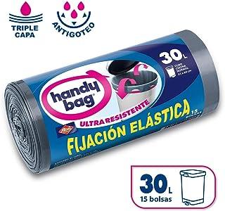 Handy Bag Bolsas de basura con fijación elástica, 30 l,
