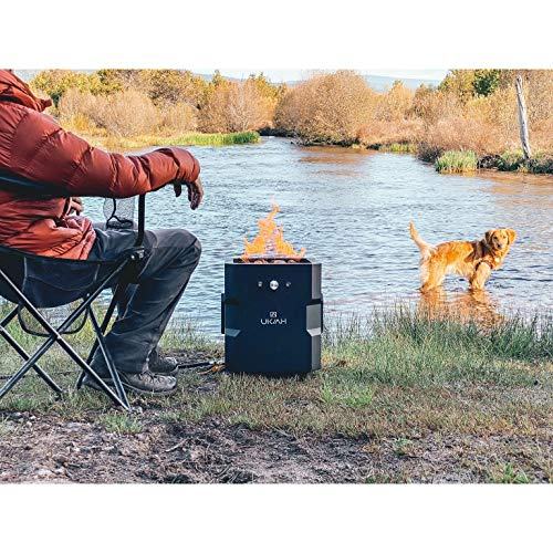 MISC Tailgater Portable Gas Fire Pit with Sound System Black
