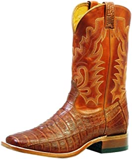 American Boots - Cowboy Exotic (Alligator) BO-9529-65-E (Normal Walking) - Men - Brown