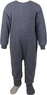 Snugabye Little Boys' Fleece Sleeper Pajama Neutral Bodysuit, Zip Back Convertible Toddler Footed PJ's