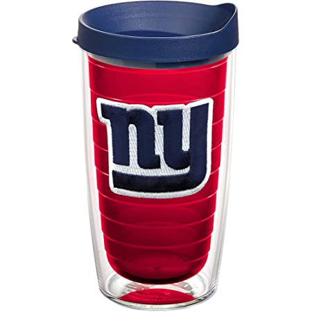 Tervis NFL New York Giants Made in USA Double Walled Insulated Tumbler, 16oz, Primary Logo - Red Inner