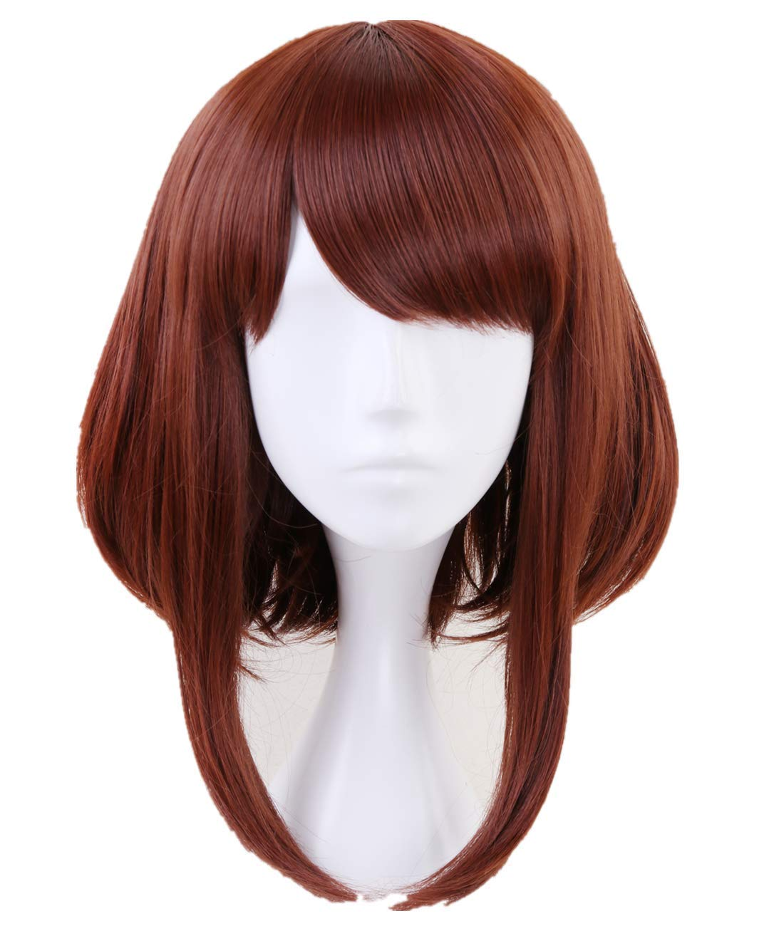 AMPIL Ochaco Uraraka Anime Cosplay Wig Bob Direct Special price for a limited time sale of manufacturer Short Brown Synthetic
