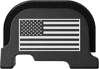 BASTION Laser Engraved Rear Cover Slide Back Plate for Ruger LC9s - USA Flag