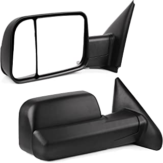 YITAMOTOR Towing Mirrors Compatible for Dodge Ram, Power Heated Manual Flip-up Folding Tow Mirrors, for 2002-2008 Dodge Ram 1500, 2003-2009 Dodge Ram 2500 3500
