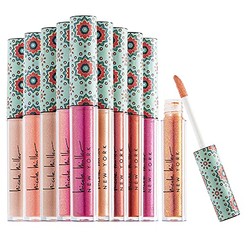 Nicole Miller 10 Pc Lip Gloss Collection, Shimmery Lip Glosses for Women and Girls, Long Lasting...