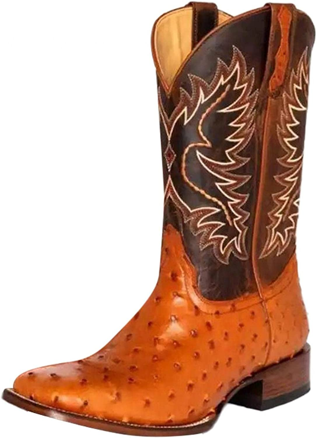 Sales for sale Masbird Booties Womens Cowboy Zip Po Embroidery Regular discount Boot Western