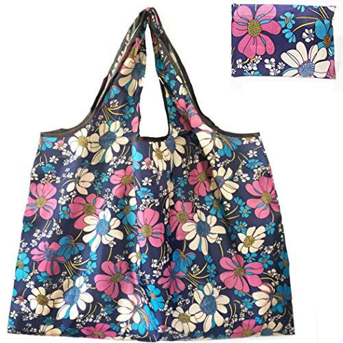 Lvptsh Återanvändbara shoppingväskor tvättbara hopfällbara matkassar tygväska bärväskor julväskor stora kraftiga köksförvaringsväskor