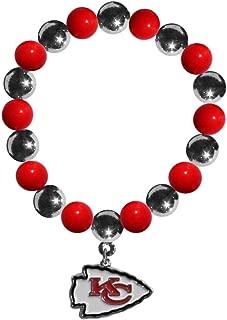 Siskiyou Sports NFL Kansas City Chiefs Chrome Bead Bracelet