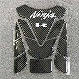 RONGLINGXING Pieces de Sport Motorise Moto 3D for Kawasaki Ninja 250 300 400 650 R Réservoir de carburant Pad...
