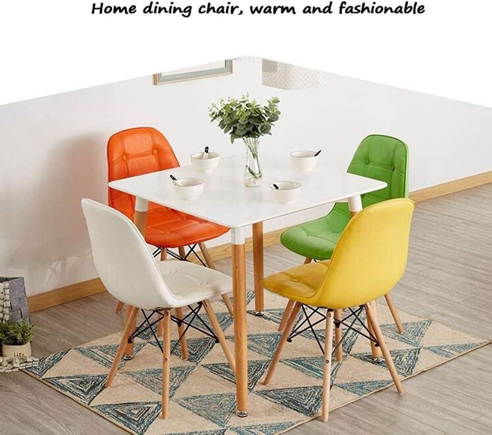 TGhosts Salle à manger Chaises Siège Chaise Dossier Bureau d'ordinateur Négocier Maison Nordic Créatif Adulte Moderne Simplicité (Color : White) Red